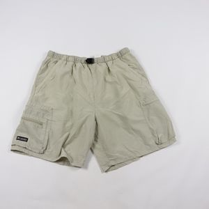 90s Columbia Mens Large Lined Hiking Shorts Tan